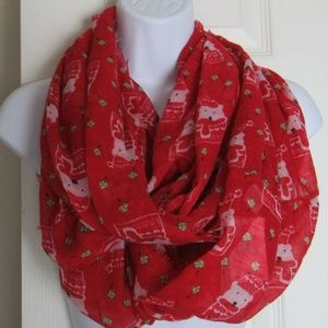 Accessories - NWT Polar Bear Infinity Scarf Red/White